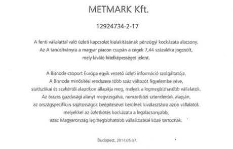 Metmark Bisnode A
