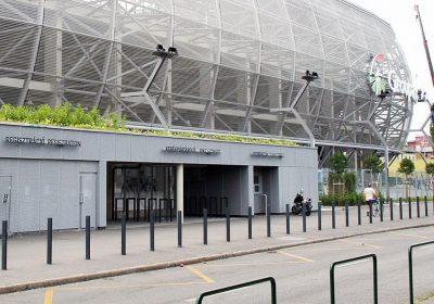 Groupama Stadion Budapest expandált lemez burkolata Metmark 9
