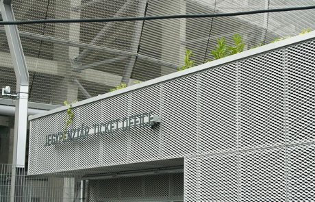 Groupama Stadion Budapest expandált lemez burkolata Metmark 3