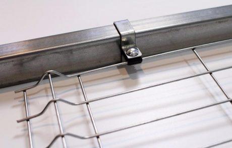 Metmark fémkerítés rendszer végelem 1