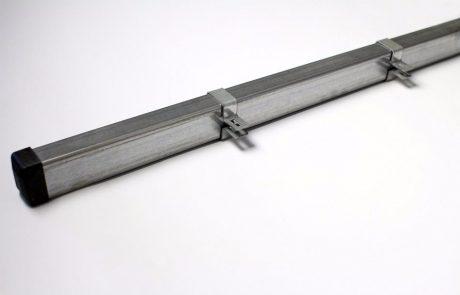 Metmark fémkerítés rendszer végelem