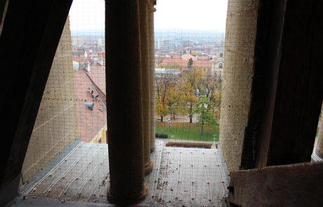 Metmark galambriasztás szerelés a Pécsi Székesegyházon 4