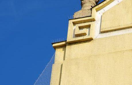 Szekszárd Belvárosi templom galambriasztása Metmark Kft. 4