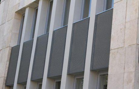 Szombathely Agora homlokzat Metmark expandált lemez burkolattal 1
