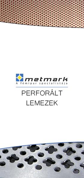 Metmark perforált lemezek leaflet